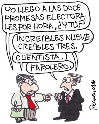Resultado de imagen de Chistes sobre promesas electorales
